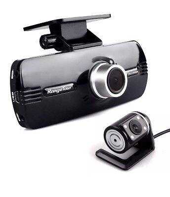 Range Tour Car Dash Cam 1080P FHD Dual Lens Front and Rear Camera DVR G-Sensor