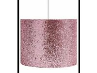 Pink sparkle lampshade from Next
