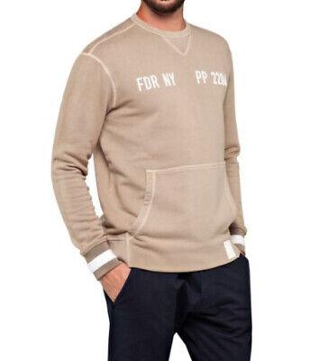 Replay Sportlab Crewneck Sweatshirt Stone colour Size S BNIP (box 7)