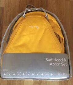 Silver cross Surf hood and apron set . New ,unused