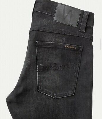 Nudie Jeans Co Tight Terry Mens 32 x 32 Black Denim Skinny -- ACTUAL 31 X 32 New