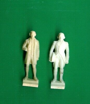 2 NABISCO CEREAL PREMIUMS '60S WASHINGTON+PATRICK HENRY AMERICAN HEROES PLAYSET