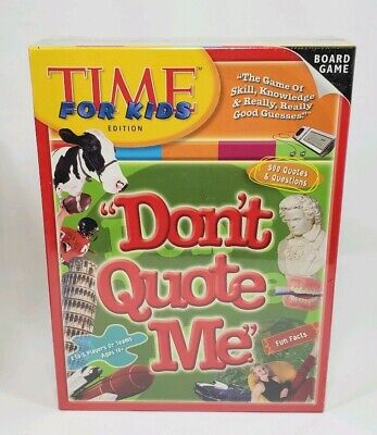 Top Board Games For Kids (TIME For Kids Edition DON'T QUOTE ME (2005) New Board Game-Top Toy Award)