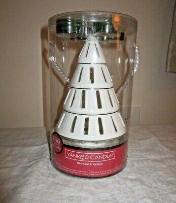 "Yankee Candle Tree Luminary Tea Light Candle Holder Set White Ceramic Tree 8""H"