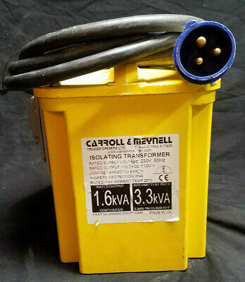 Carrollmeynell Portable Isolating Step Down Transformer 230v-110v Ac 1.63.3kva