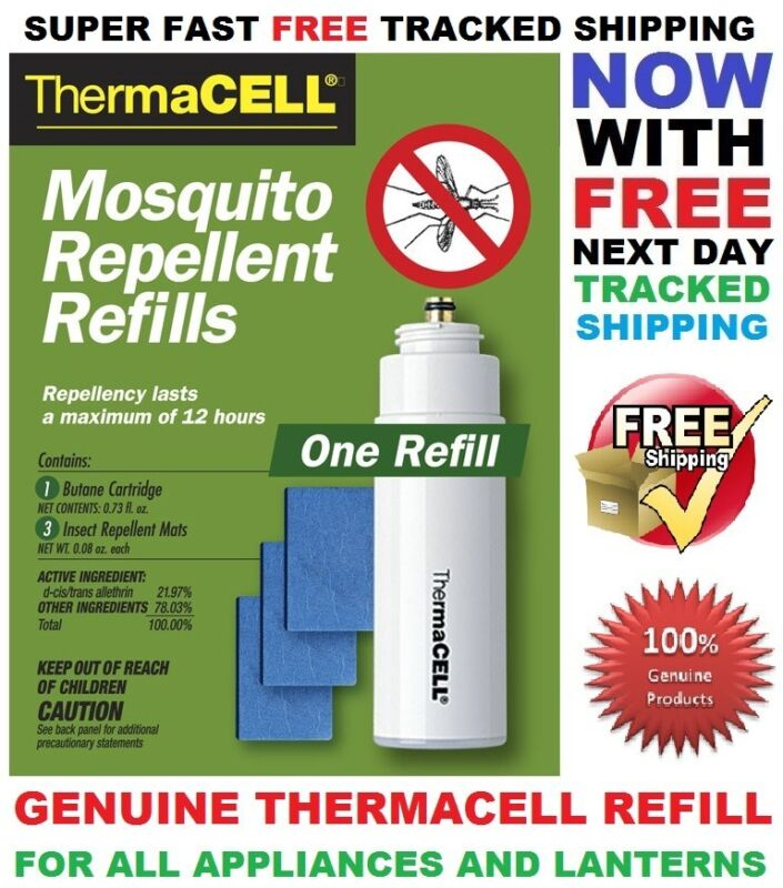 Genuine ThermaCELL R-1 Mosquito Repellent Refill (R1) set for 12 hours
