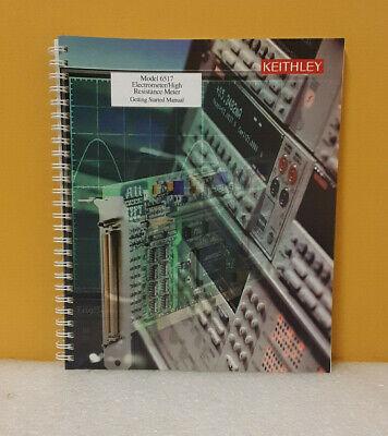 Keithley 6517-903-01 6517 Electrometerhigh Resistance Meter Starting Manual