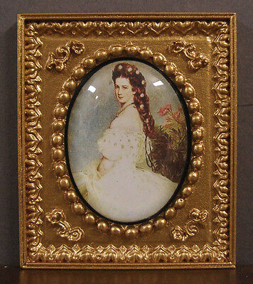 VINTAGE  GLASS  CAMEO  PICTURE ~ Dollhouse Miniature ~ 1:12 scale ~ Room Box