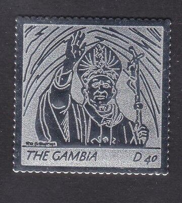 Gambia 2005 Death of Pope John Paul 40d - Silver Foil - MNH (A9E)