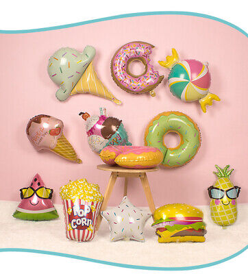 Quality Safe Kids Children's Birthday Party Decoration Balloon icecream doughnut