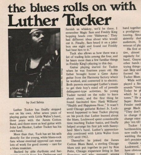 1973 The Blues Rolls on with  Luther Tucker - 2-Page Vintage Guitar Article