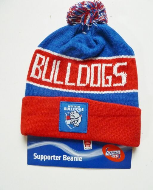 AFL WESTERN BULLDOGS TRADITIONAL BAR BEANIE - BRAND NEW