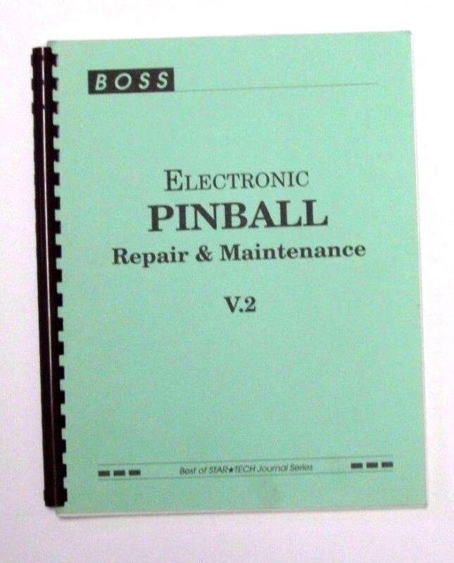 BOSS electric pinball repair and maintenance manual v.2