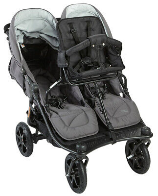 Valco Baby Tri Mode Twin Stroller - Valco Baby Twin Tri Mode Duo X Double Triple Stroller Dove Grey w/ Toddler Seat