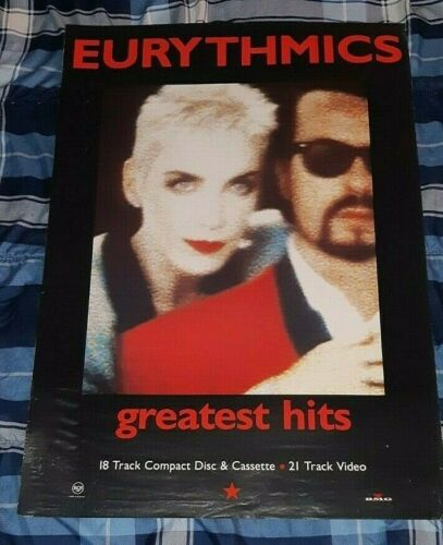 EURYTHMICS, THE  GREATEST HITS PROMO POSTER USA READY TO FRAME!