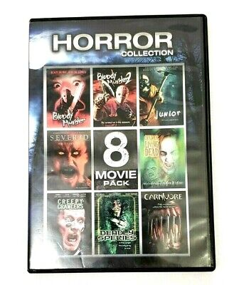 Horror Collection 1: 8 Movie Pack (DVD, 2012, 2-Disc Set) Horror Movie Night (Halloween 1-8 Collection)