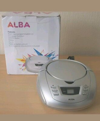 ALBA FM - MW RADIO CD PLAYER STEREO  BOOMBOX  Mains or Battery