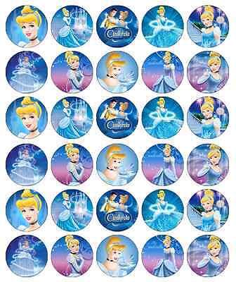 Disney Princess Cinderella Cupcake Toppers Edible Wafer Paper BUY 2 GET 3RD FREE