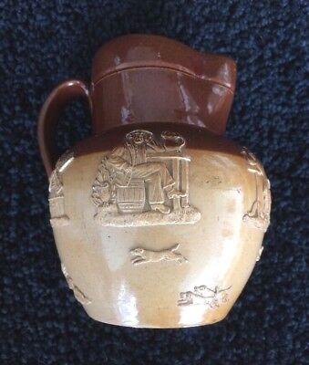 Doulton Lambeth Drinking Pitcher ca.1858-1910 signed Nellie Harrison