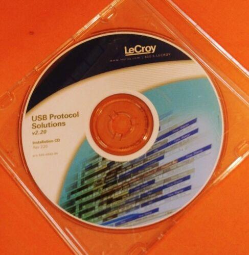 Lecroy USB Protocal Solutions v2.20 Installation CD Rev. 2.2