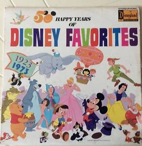 Vintage 1973 LP Record 50 Happy Years of Disney Favourites Greenwood Joondalup Area Preview