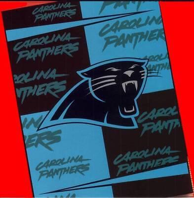 NEW 60x80 CAROLINA PANTHERS NFL Stadium Blanket Throw +FREE GIFT Warm Soft Comfy Carolina Panthers Comfy Throw