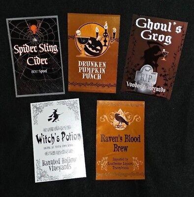 Halloween total 70 peel & stick bottle labels for party liquor store bar - Halloween Labels For Bottles