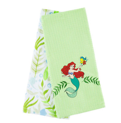 Disney Parks The Little Mermaid Ariel and Flounder Kitchen Towel Set Towels NWT](Little Mermaid Towel)