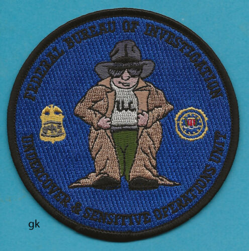 FBI  UNDERCOVER AND SENSITIVE OPERATIONS UNIT POLICE SHOULDER PATCH