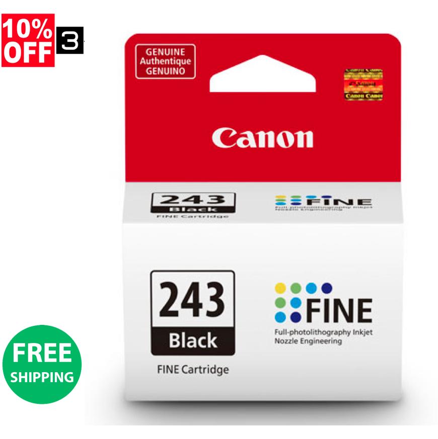 1Pk Genuine Canon Ink Cartridges PG-243 Black For MG2522 MG3020 MG2520 MG2920