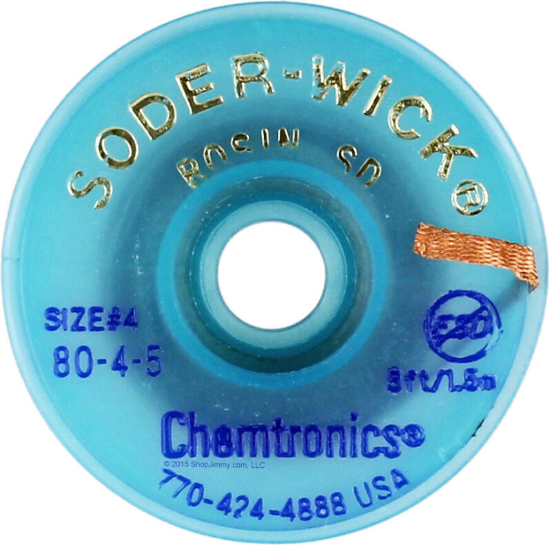 Chemtronics 80-4-5 Soder-Wick® Rosin SD Desoldering Braid 5