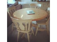 Shabby Chic style dinning table & 4 chairs