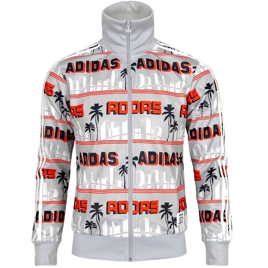 Adidas LA Palm Firebird TT Herren Trainingsjacke NIGO® Jacke Track Top Men grau
