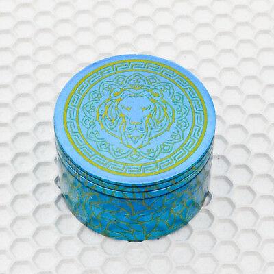 """Magnetic2.5"""" TOBACCO Grinder Spice Crusher Lioness Tur Blue 4-Piece Herb Grinder"""