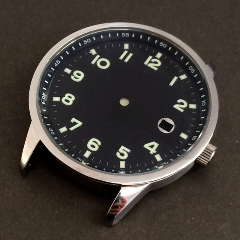 316L S.STEEL CASE FOR ETA 2824-2 2836 AUTOMATIC AVIATOR 5ATM SWISS MADE - NEW
