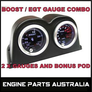 PYRO EGT EXHAUST GAS TEMPERATURE GAUGE + TURBO BOOST PSI KIT GQ GU PATROL DIESEL