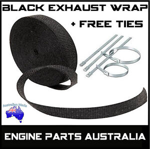 2000F-BLACK-EXHAUST-HEAT-WRAP-25MM-X-4-5M-6-STAINLESS-STEEL-TIES