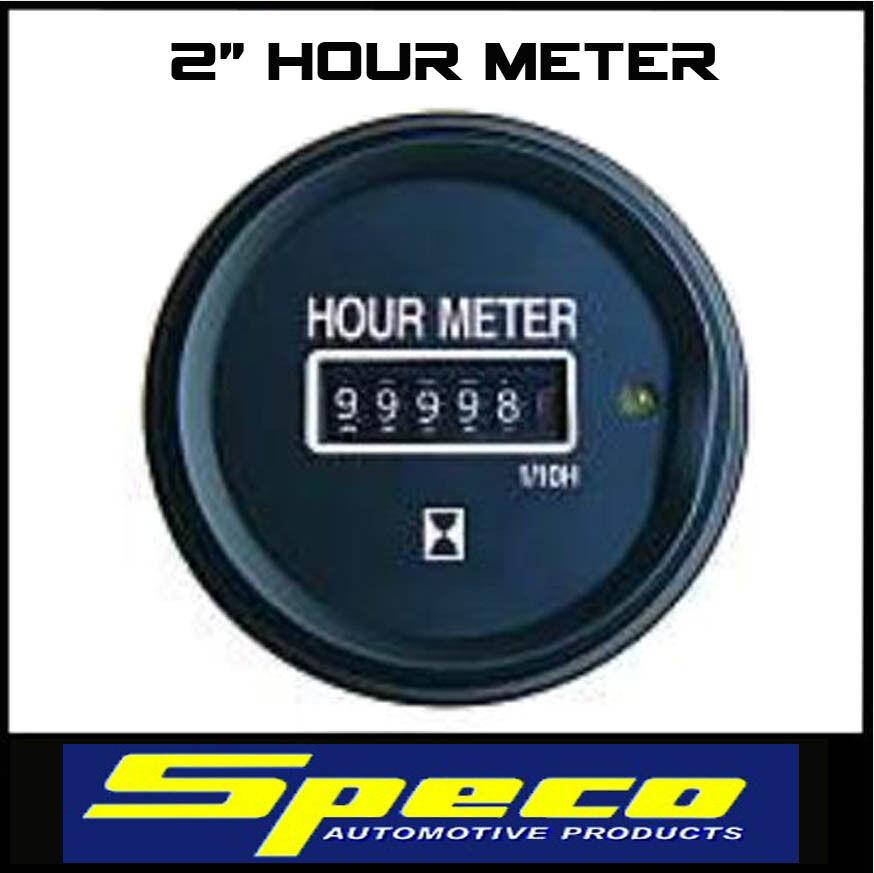 2 Round 12 Volt Hour Meter : Quot speco hour meter volt auto marine bike etc