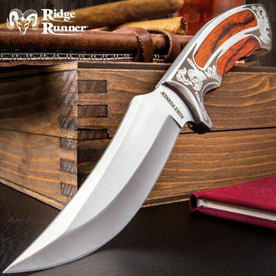 "10"" Elk Ridge Wood Hunting Skinning Survival Fixed Blade Ful"