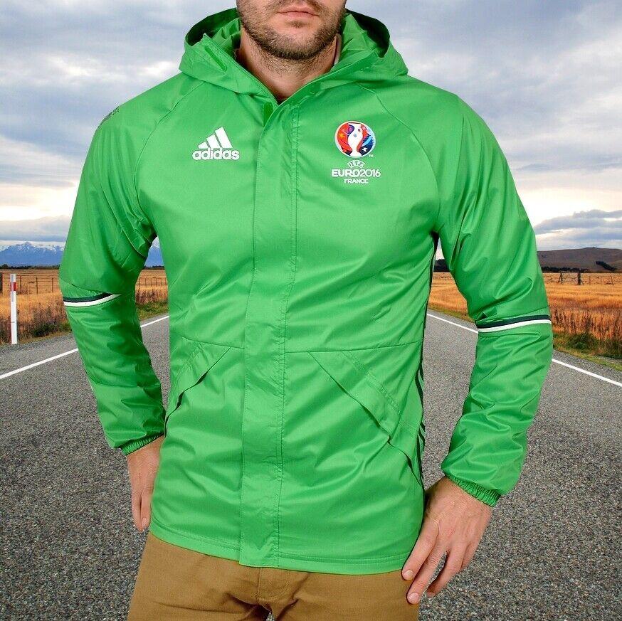 Adidas Rain Jacket Herren Regenjacke Wind Jacke Outdoor Parka WASSERDICHT grün