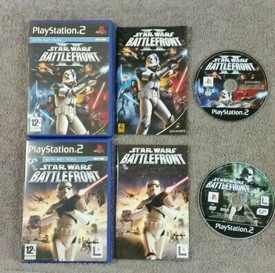 ps2 STAR WARS BATTLEFRONT x2 Games I & II (1 + 2) PAL UK Versions