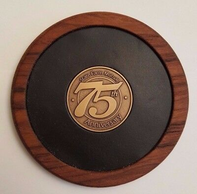 Rare 1922 1997 State Farm Mutual Auto Insurance 75Th Anniversary Logo Coaster