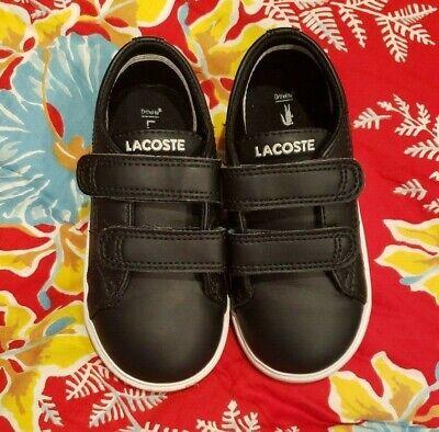 Excellent Little Boys LACOSTE Kids Navy Blue Sneakers   Size 7