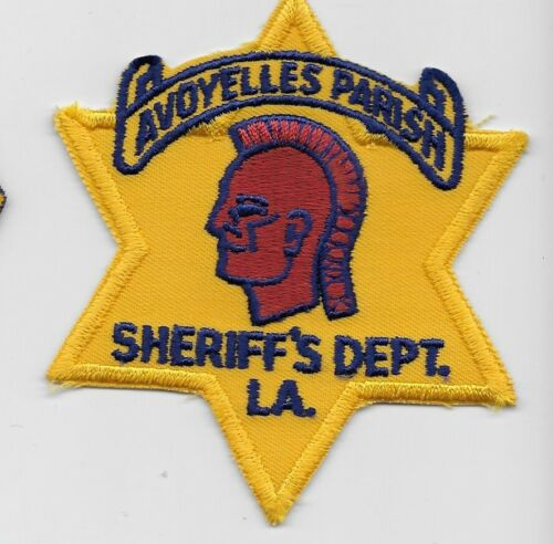 Vintage Avoyelles Parish Sheriff State Louisiana Indian patch RARE OLD