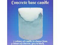 Concrete base candle