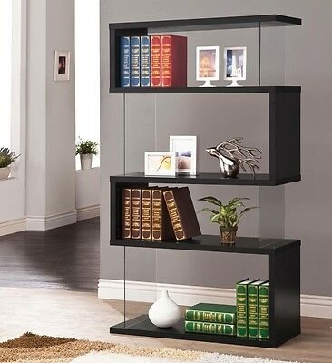 Coaster Bookcase 800340 With 4 Shelf In Black Finish NEW