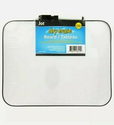 1 Dry Erase Board Magnetic With Eraser-topped Markers