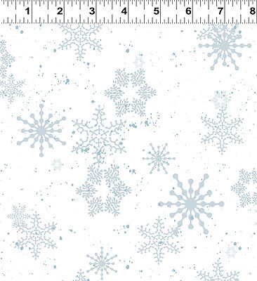 Creature Comforts White Snowflake Quilt Fabric By 1 2 Yard Yy1684 1 Clothworks
