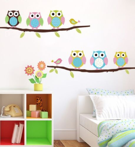 Removable Owl Birds Branch Vinyl Kids Home ...