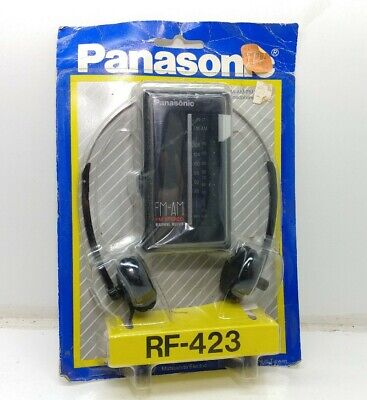 Vintage Panasonic RF-423 Portable AM/FM Stereo Headphone Radio 1980's NOS New for sale  Shipping to India